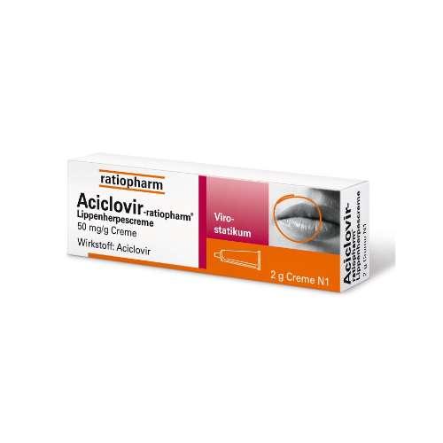 ACICLOVIR ratiopharm Lippenherpescreme