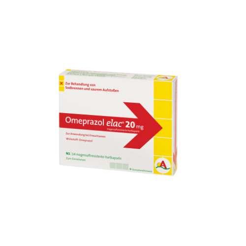 OMEPRAZOL 20 mg elac magensaftresistente Hartkaps.